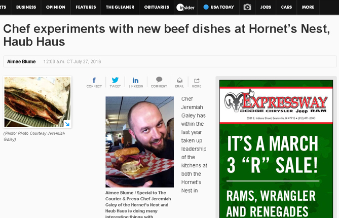 Evansville Courier & Press - Emerson Cattle Company