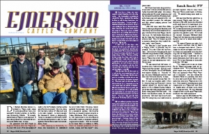 Emerson Cattle Company article in Wagyu World